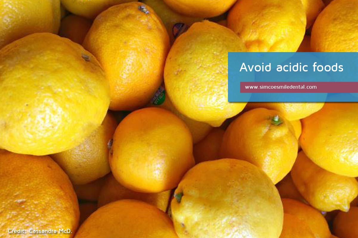 Avoid-acidic-foods Practical Strategies for the Care of Sensitive Teeth