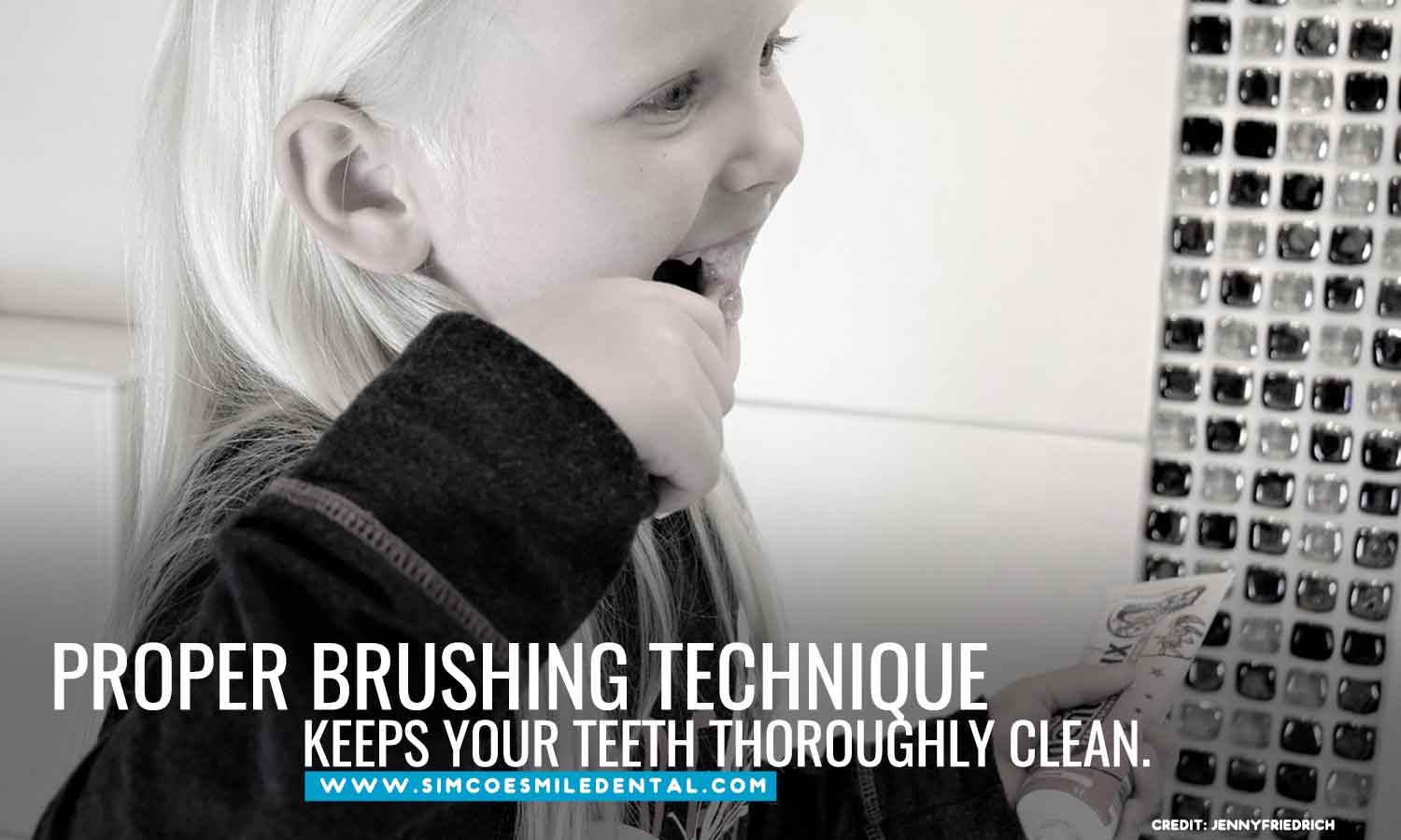 Proper-brushing-technique-keeps-your-teeth-thoroughly-clean Overbrushing And Its Effects On Your Teeth