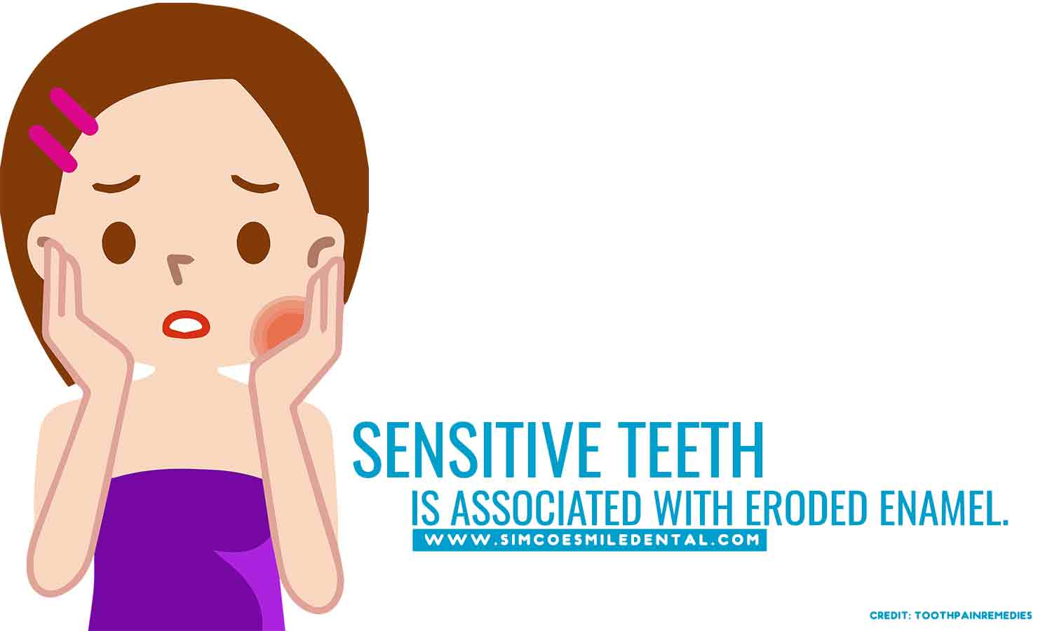 Sensitive-teeth-is-associated-with-eroded-enamel Overbrushing And Its Effects On Your Teeth